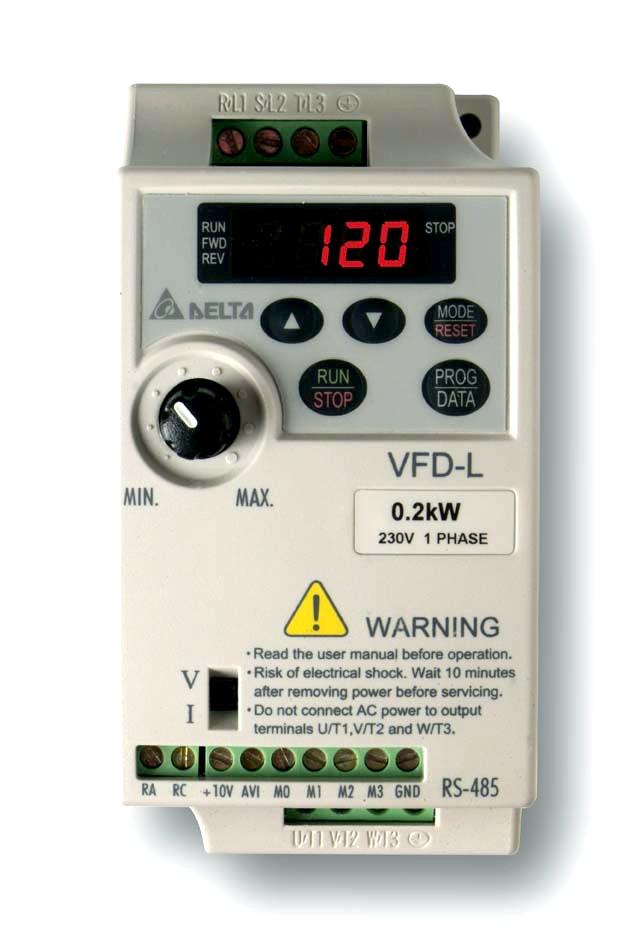 Delta VFD-L frekvenciaváló